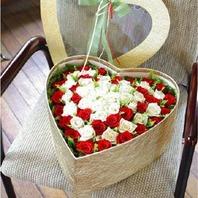 장미하트꽃상자